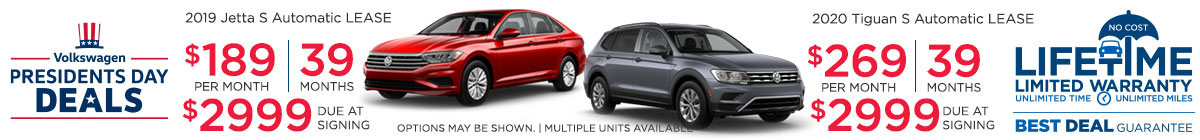 Great leases on Jetta and Tiguan
